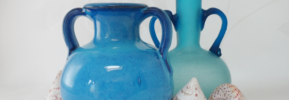 Aegean Blue Glass and Ceramics