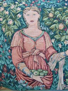 Pomona, edward burne jones, william morris, morris & co, tapestry, tapestry cushion cover, home furnishings, soft furnishings,