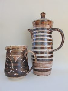 david sharp, rye pottery, cinque port pottery, coffee pot, milk jug, mid century, mad men