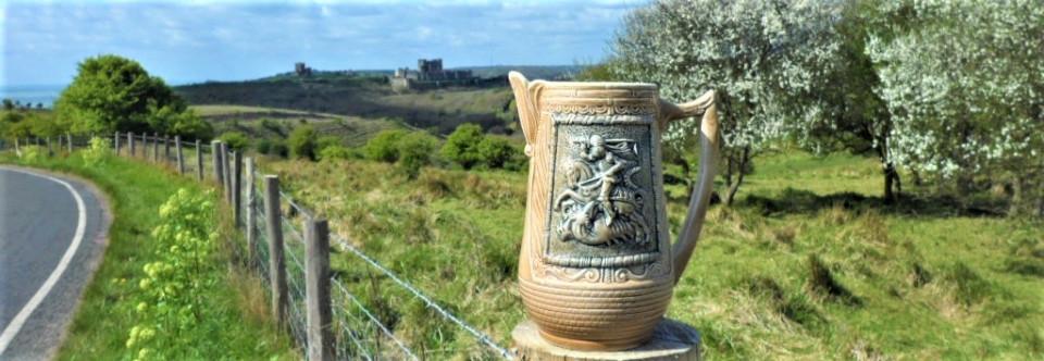 St George, Citadel. Crusades, Vintage, Pottery, Westerwald